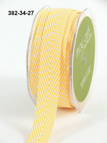 Лента Twill Chevron Stripe Yellow 1 метр