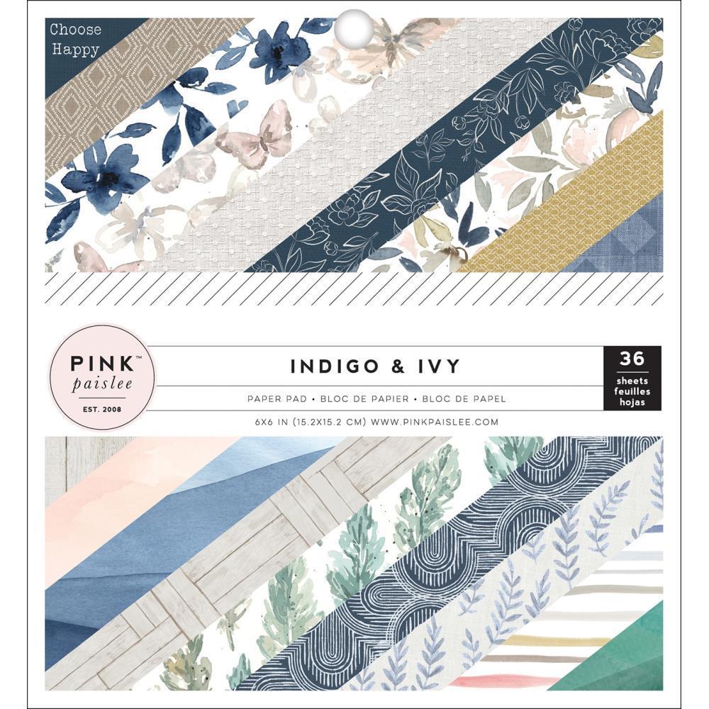 """Набор бумаги """"Indigo & Ivy"""" 18 листов от магазина ScrapMan.ru"""