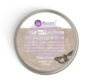 "Восковая паста Art Alchemy Metallique Wax - ""Old Silver"" 20мл от Prima Marketing"