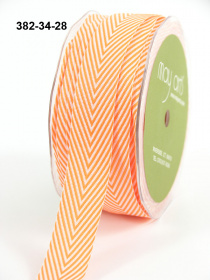 Лента Twill Chevron Stripe Orange 1 метр