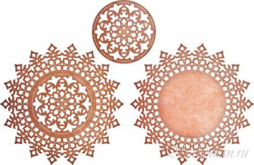 "Нож ""Royal Scandinavian Doily Circle"" от Cheery Lynn Designs"