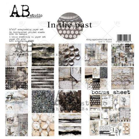 "Набор бумаги ""In The Past"" 30*30см 8 листов + бонус"