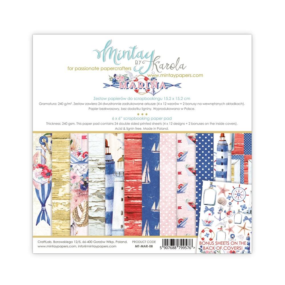 """Набор бумаги """"Marina"""" 12 листов  от магазина ScrapMan.ru"""