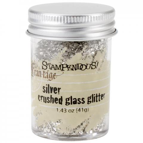 "Стеклянный глиттер Frantage Crushed Glass ""Silver"" Stampendous"