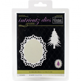 "Нож для вырубки ""Framed Christmas Tree Doily"" от Couture Creations"