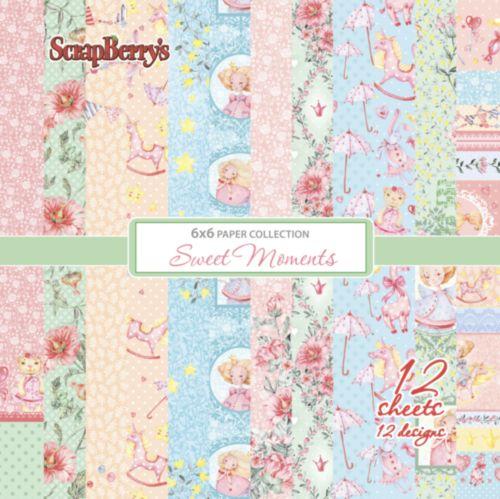 """Набор бумаги """"Маленькая принцесса"""" 12 листов от магазина ScrapMan.ru"""