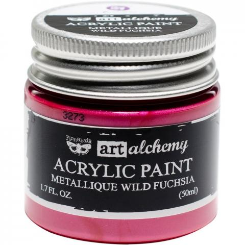 "Акриловая краска Art Alchemy ""Wild Fuchsia"" Metallique 50мл от Prima Marketing"