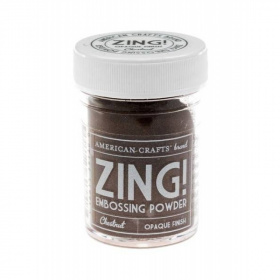 "Пудра для эмбоссинга Zing! Opaque ""Chestnut"""