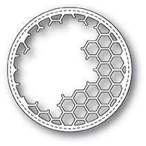 Нож для вырубки Honeycomb Stitched Circle Frame от Memory Box