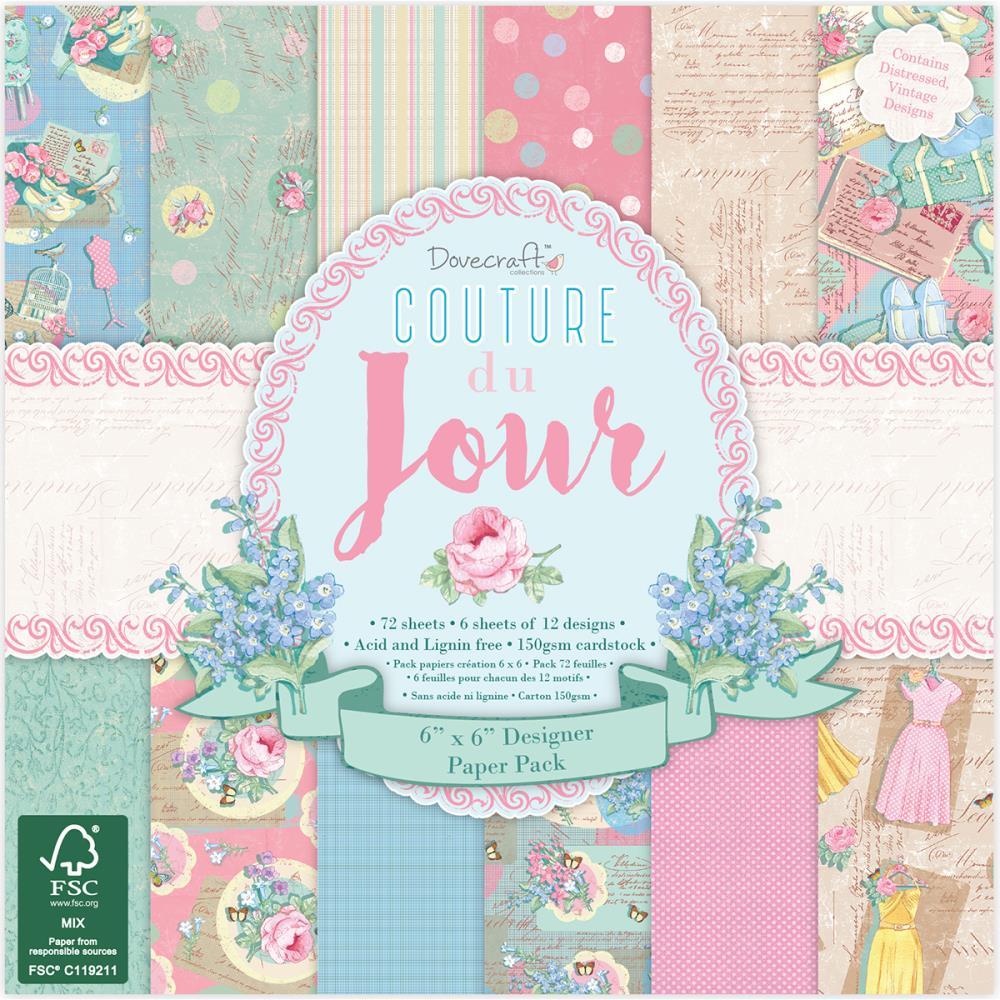 """Набор бумаги """"Couture du Jour"""" 12 листов от магазина ScrapMan.ru"""