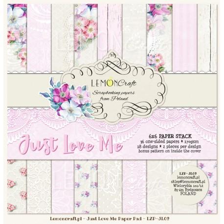 """Набор бумаги """"Just Love Me"""" 18 листов  от магазина ScrapMan.ru"""