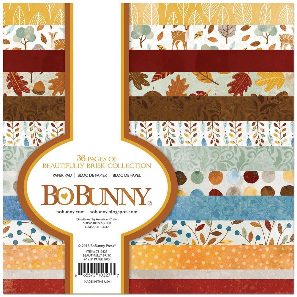 """Набор бумаги """"Beautifully Brisk"""" 12 листов от магазина ScrapMan.ru"""