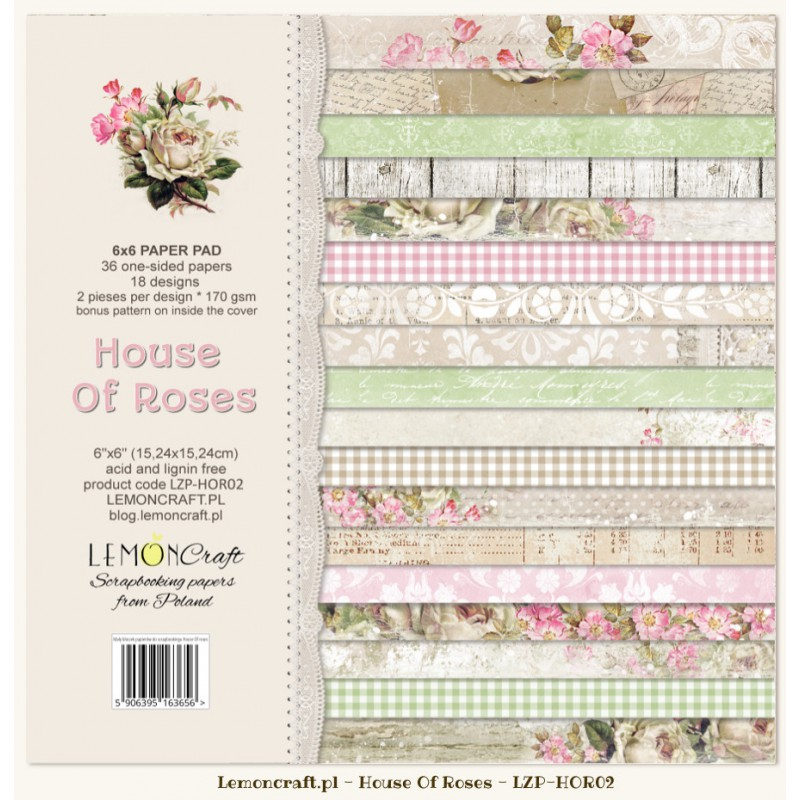 "Набор бумаги ""House Of Roses"" 18 листов LemonCraft от магазина ScrapMan.ru"