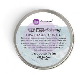 "Восковая паста Art Alchemy Opal Magic Wax - ""Turquoise Satin"" 20мл от Prima Marketing"