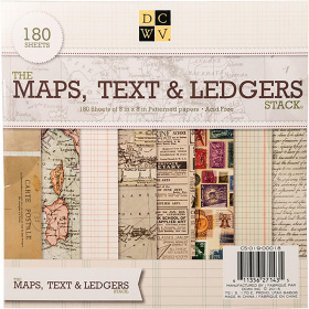 "Набор бумаги ""Maps, Text & Ledgers"" 60 листов"