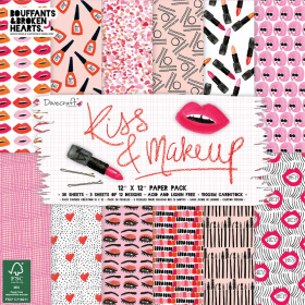 "Набор бумаги ""Kiss & Make Up"" 12 листов"