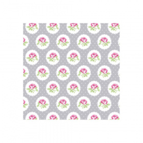 "Отрез ткани 50*55см Charlotte ""Dotted Rose - Gray"""