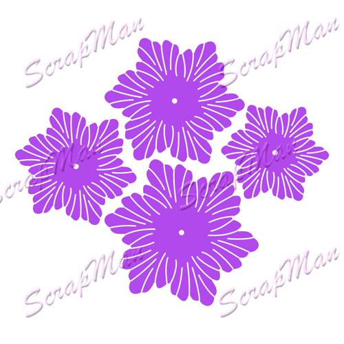 "Set of knives ""Flowers 1"" (Seth Flowers 1) from ScrapMan from ScrapMan.ru"