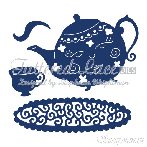 "Нож для вырубки ""I'm a Little Teapot"" от Tattered Lace от магазина ScrapMan.ru"