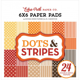 "Набор бумаги ""Fall Dots & Stripes"" 12 листов"
