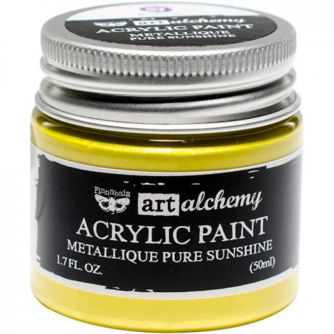 "Акриловая краска Art Alchemy ""Pure Sunshine"" Metallique 50мл от Prima Marketing"