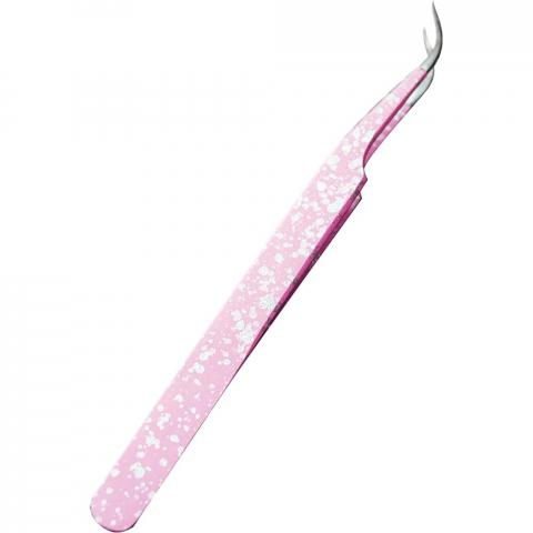 Пинцет Elizabeth Crafts Pink Glitter Fine Pointed Tweezers