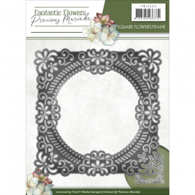 "Нож для вырубки ""Square Flowers Frame"" от Precious Marieke"