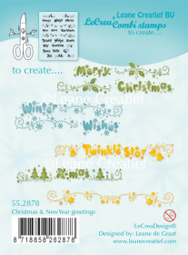 "Набор штампов ""Christmas & NewYear greetings"" от Leane Creatief"