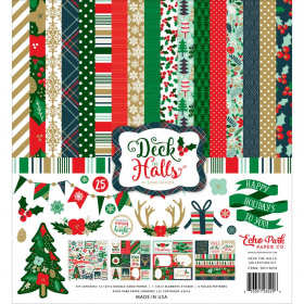 "Набор бумаги ""Deck The Halls"" (KIT) 12 листов"
