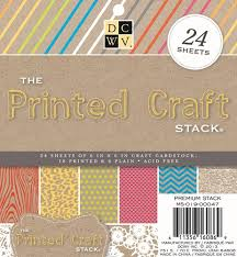 "Набор бумаги ""Printed Craft"" 12 листов"