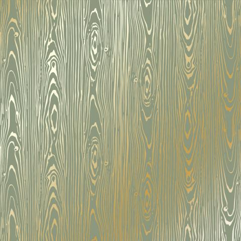 "Бумага с фольгированием ""Golden Wood Texture Olive"""