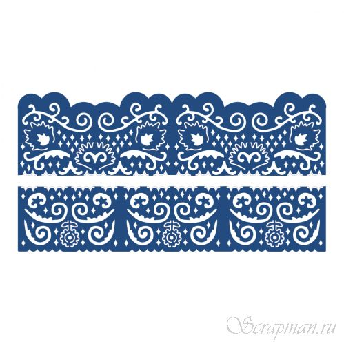"Нож ""Florentine Fancy Edges Set 2"" от Tattered Lace от магазина ScrapMan.ru"