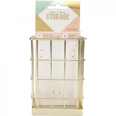 Золотая корзинка для хранения Wire System Metal Storage Bin от Crate Paper