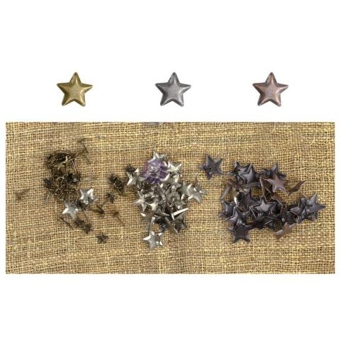 Набор брадс Mini Brads Assorted Stars 100 штук