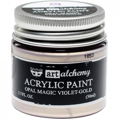 "Акриловая краска Art Alchemy ""Violet/Gold"" Opal Magic 50мл от Prima Marketing"