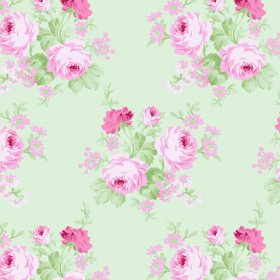 "Отрез ткани 50*55см Charlotte ""Wild Bouquet - Green"""