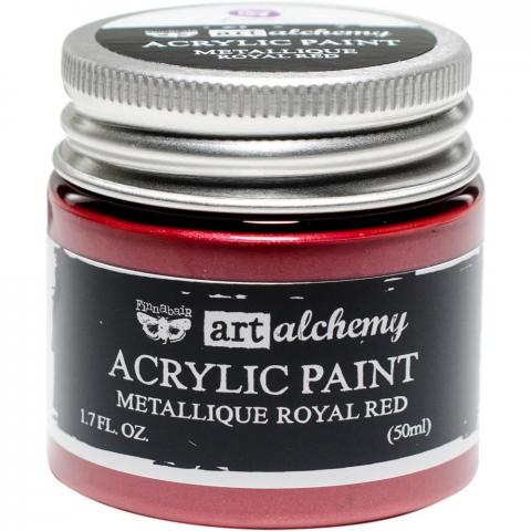 "Акриловая краска Art Alchemy ""Royal Red"" Metallique 50мл от Prima Marketing"