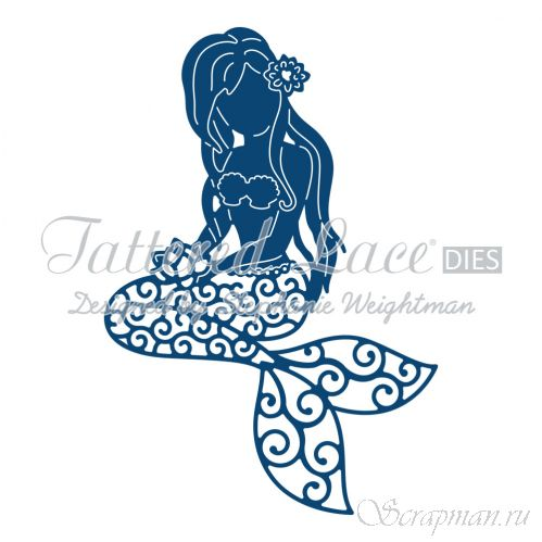 "Нож ""Little Mermaid"" от Tattered Lace от магазина ScrapMan.ru"