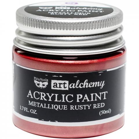"Акриловая краска Art Alchemy ""Rusty Red"" Metallique 50мл от Prima Marketing"