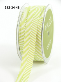 Лента Twill Chevron Stripe Celery Green 1 метр