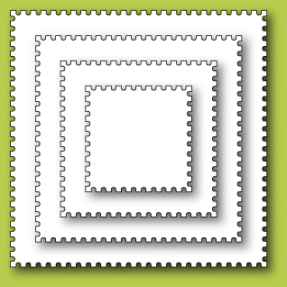"Нож ""Postage Square Layers"" от Memory Box от магазина ScrapMan.ru"