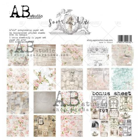 "Набор бумаги ""Somewhere"" 30*30см 8 листов + бонус"